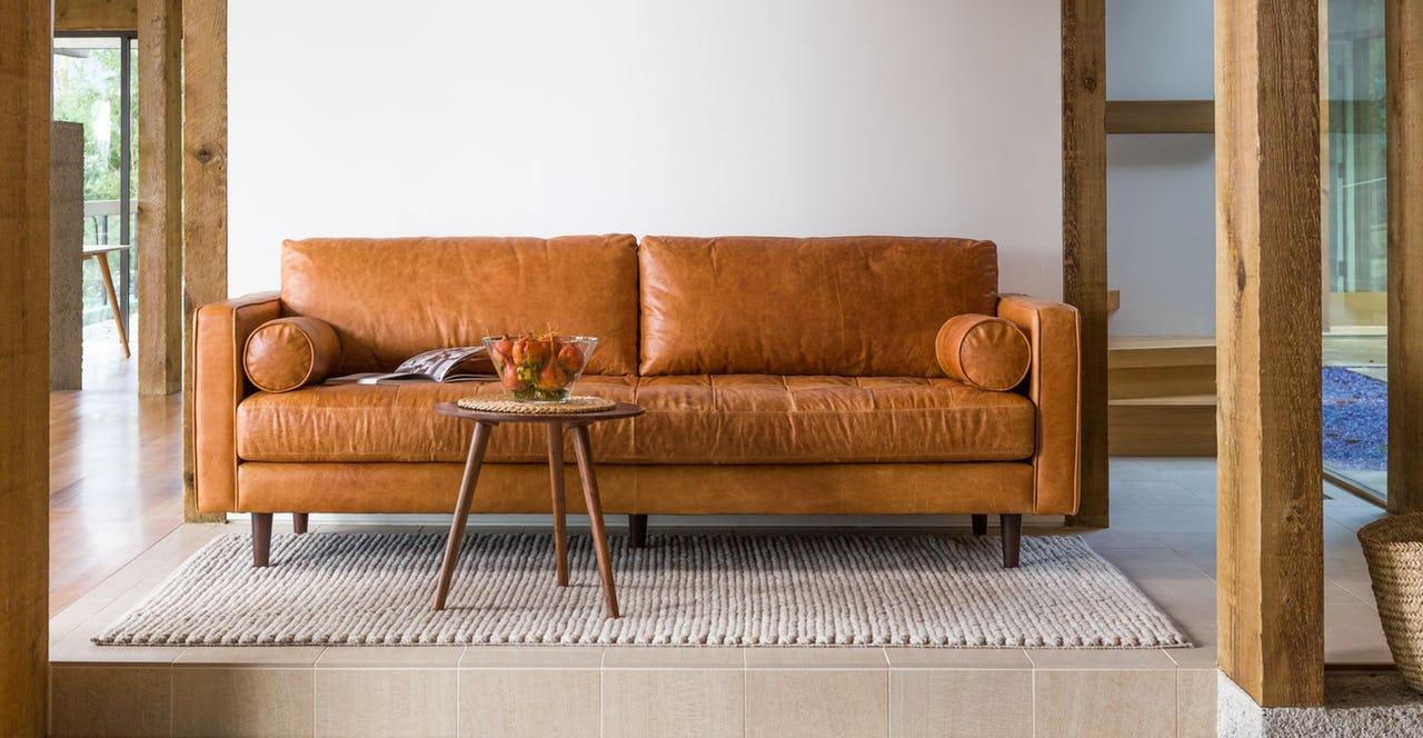 Ghế sofa phòng khách Sofa Băng da
