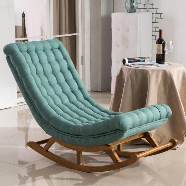 Ghế bập bênh màu xanh ngọc