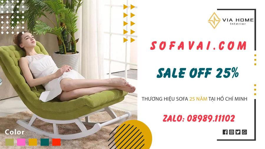 Ghế bập bênh đẹp giá rẻ tại Sofa Vải