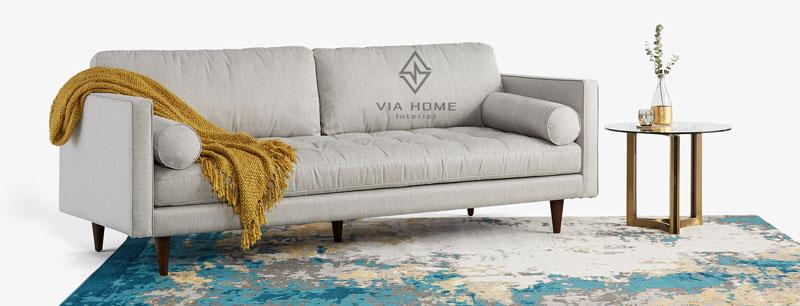 Sofa vải bố phong cách nội thất hiện đại