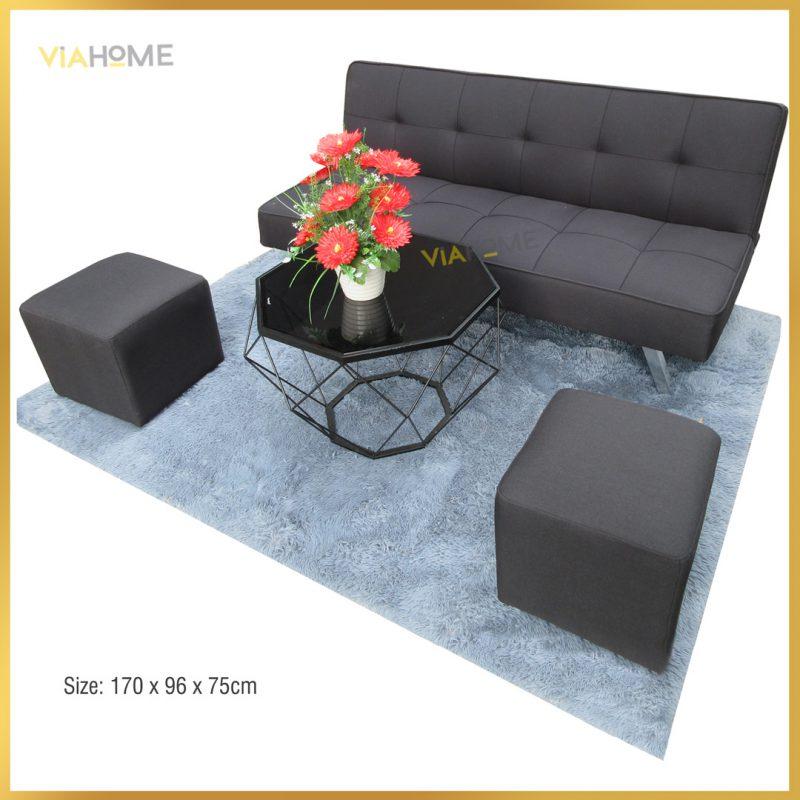 Sofa giường màu đen