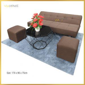 Sofa giường màu nâu